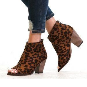Women S New Leopard Print Booties Poshmark
